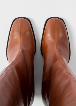 Paul Smith Women's Tan Leather Knee-High 'Johnette' Boots