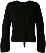 Isabel Marant lace-up back jumper - women - Cotton/Wool/Polybutylene Terephthalate (PBT) - 38