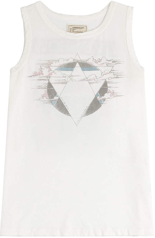 Current/Elliott The Muscle Tee Printed Cotton Tank