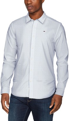 Tommy Jeans Men's Striped Classic Casual Shirt