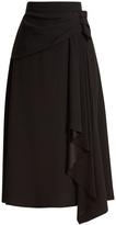 Prada Drape-front crepe skirt