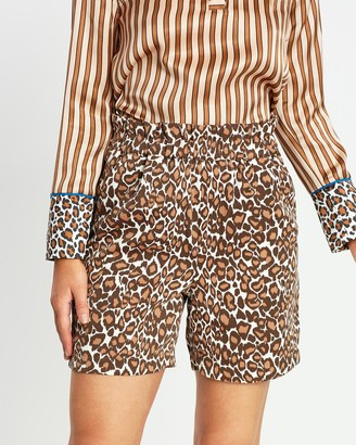 Scotch & Soda Printed Longer Length Safari Shorts
