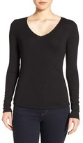 Nordstrom Rib Knit V-Neck Top