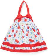 Children's Apparel Network Red Cherry Poplin Halter Dress & Diaper Cover - Infant