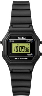 Timex Women's Classic Digital Mini Black Resin Strap Watch