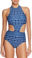 Shoshanna Graphic Sporty Monokini One Piece Swimsuit
