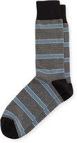 Neiman Marcus Variegated Jaspe Striped Socks