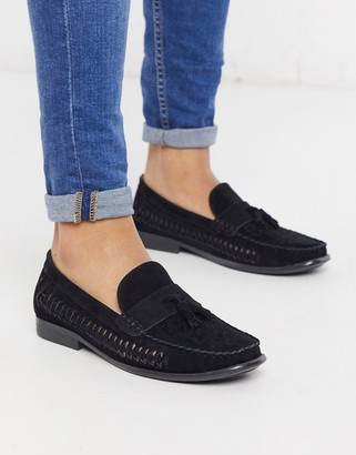 Brave Soul faux suede loafers in black