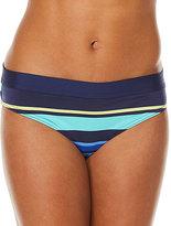 Navy & Aqua Stripe Bikini Bottoms