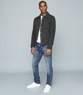 Reiss BLAKE QUILTED COTTON-BLEND JACKET Charcoal