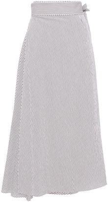 Diane von Furstenberg Striped Poplin Midi Skirt