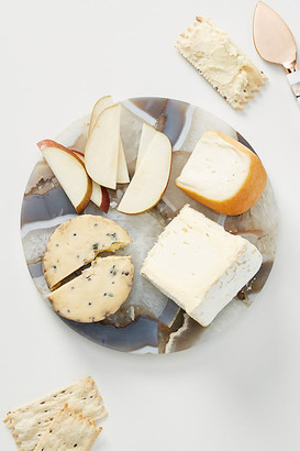 Anthropologie Quincy Composite Agate Cheese Board By in Beige Size CTTNGBOARD