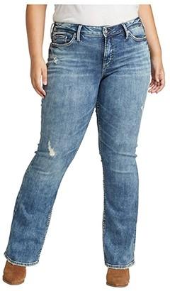 Silver Jeans Co. Plus Size Suki Mid-Rise Curvy Fit Slim Boot Jeans W93616SSX220 (Indigo) Women's Jeans