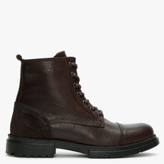 Daniel Sumble Brown Tumbled Leather Work Boots