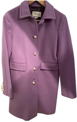 Gucci Purple Wool Coats