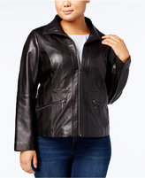 Anne Klein Plus Size Leather Jacket