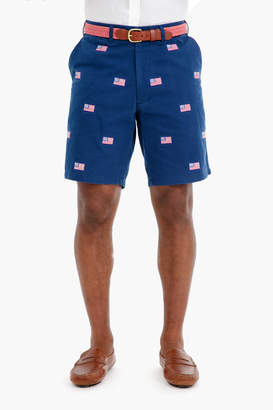 Gents Castaway Clothing American Flag Cisco Embroidered Shorts