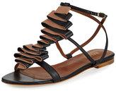 Malone Souliers Audrey Ribbon Leather Flat Sandal