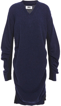 MM6 MAISON MARGIELA Melange Ribbed Wool-blend Dress