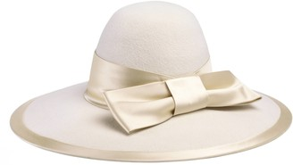 Gucci Felt wide brim hat with satin ribbon