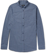 A.p.c. - Marlon Slim-fit Button-down Collar Checked Cotton Shirt