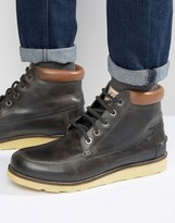 Original Penguin Boots In Black Leather