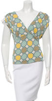 David Meister Silk Printed Top