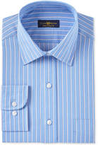 Club Room Men's Estate Classic/Regular Fit Wrinkle Resistant Red Indigo Twill Dress Shirt, Created for Macy's