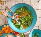 Pottery Barn Swirl Melamine Large Serve Bowl - Turquoise