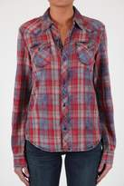 Black Orchid Denim Plaid Button Shirt