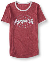 Aeropostale Womens Diamond Ringer Graphic T Shirt