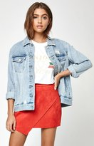 KENDALL + KYLIE Kendall & Kylie Suede Asymmetrical Skirt