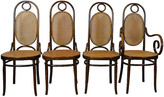 One Kings Lane Vintage Bentwood Dining Chairs - brown