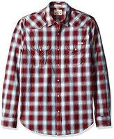 Lucky Brand Men's Santa Fe Western Shirt in Red Multi