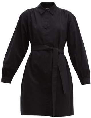 A.P.C. Maria Cotton-canvas Dress - Womens - Black