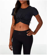 Under Armour Women's Studio Vanish Lux Crop T-Shirt, Black