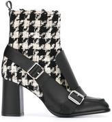 MSGM tweed biker ankle boots