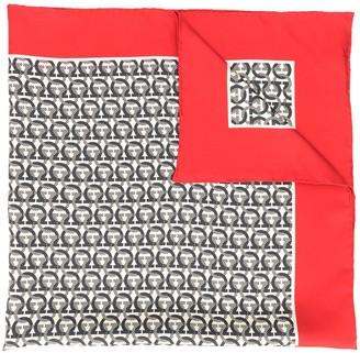 Salvatore Ferragamo Gancini-monogram twill scarf