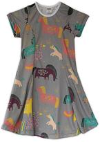 Urban Smalls Gray Fanciful Unicorn Sublimated Swing Dress - Toddler & Girls