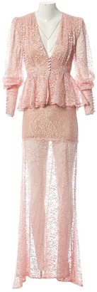 Alessandra Rich \N Pink Lace Dresses