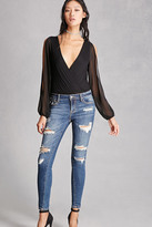Forever 21 FOREVER 21+ Distressed Skinny Ankle Jeans