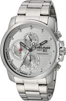 Head Men's 'Topspin' Quartz Stainless Steel Casual Watch, Color:-Toned (Model: HE-003-02)