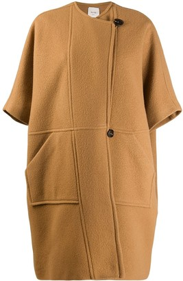 Alysi Off-Centre Button Coat