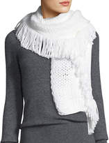 Vince Camuto All Over Fringe Woven Scarf