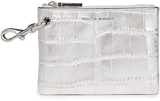 Rebecca Minkoff Metallic Croc-effect Leather Key Wallet