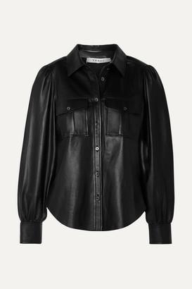 Frame Leather Shirt - Black