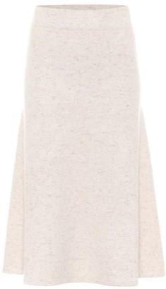 Agnona Cashmere midi skirt