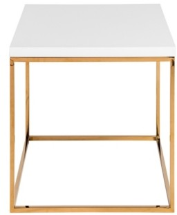 Euro Style Teresa Side Table with Brushed Gold Frame