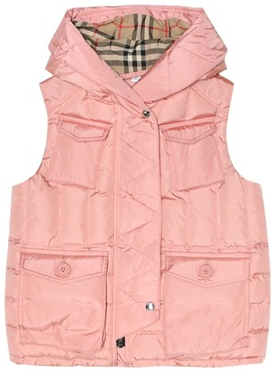 BURBERRY KIDS Hooded down vest