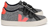 Veja Leather and Fabric Velcro Esplar Mid Trainers